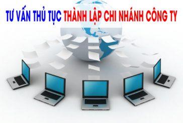 Thành lập chi nhánh công ty TNHH hai thành viên trở lên tại Khánh Hoà